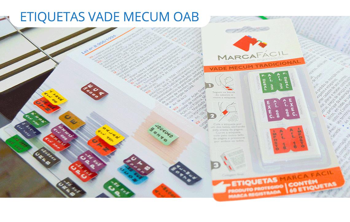 Etiquetas Vade Mecum OAB